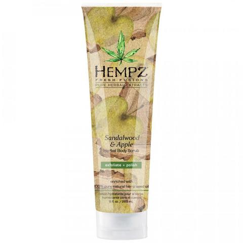 Hempz - Средства для душа: Скраб для тела Сандал и Яблоко (Sandalwood & Apple Hebal Body Scrub), 265мл