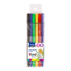 Mazari Vivo Line набор капиллярных ручек линеров 0.4 мм - 6 цветов