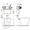 Бачок скрытого монтажа для приставного унитаза Migliore Expert Bac (без панели и ручки) H405xL440xP150 mm схема
