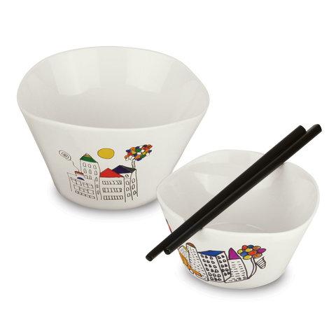 Набор 2пр мисочек для риса с палочками 11см 0,3л Eclipse ornament