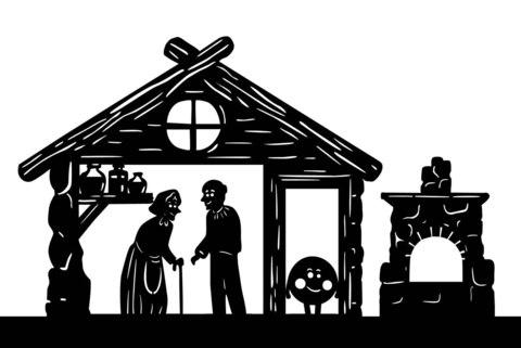 Домашний Театр теней - набор с двумя сказками