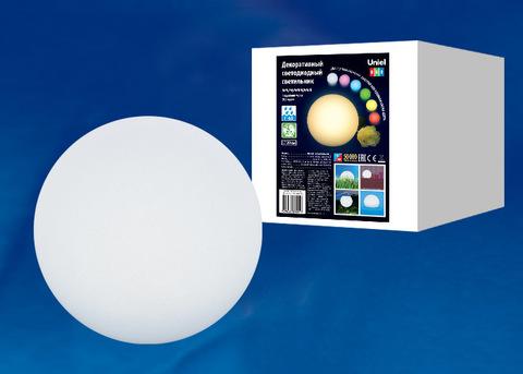 ULG-R001 020/RGB IP65 BALL Светильник декоративный светодиодный «Шар». Аккумуляторный (в/к). Диаметр 20см. RGB свет. TM Uniel.
