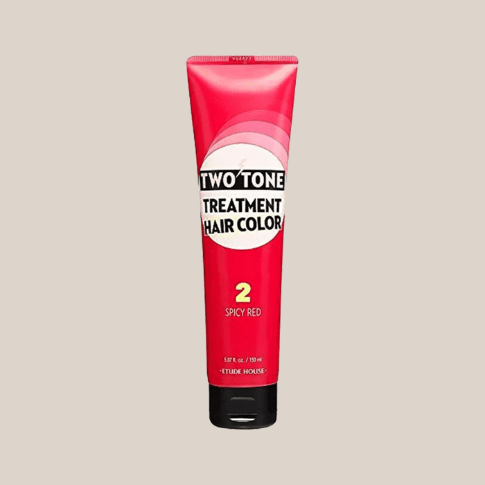 Краска для волос лечебная Etude House Two Tone Treatment Hair Color 02 Spicy Red