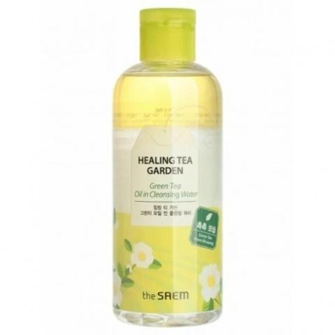 Вода очищающая увлажняющая The Saem для снятия макияжа с маслом зеленого чая 300 мл