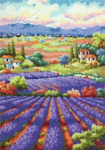 Набор для вышивания. Лавандовые поля. Fields Of Lavender. Арт. 35299