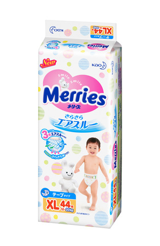 Подгузники размер XL  12-20 кг Merries Меррис