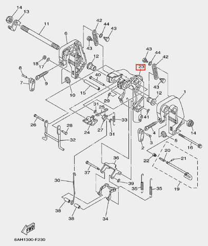 Кронштейн поворотный для лодочного мотора F20 Sea-PRO (19-23)