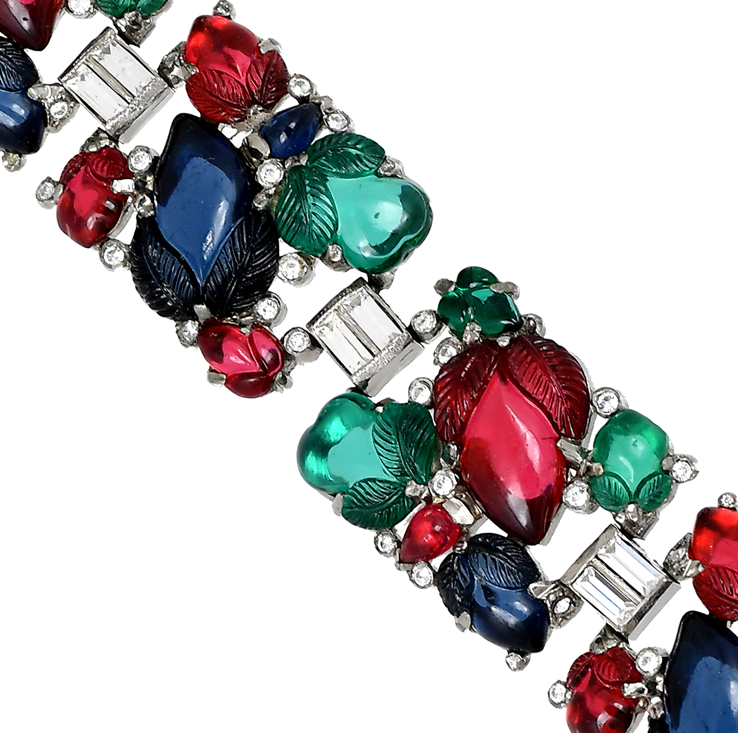Trifari 'Alfred Philippe' Tricolour Fruit Salads Bracelet