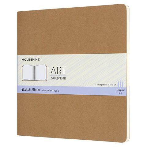 Блокнот для рисования Moleskine ART CAHIER SKETCH ALBUM ARTSKA5P3 190x190мм обложка картон 88стр. бежевый