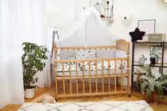 Комплект постельного белья Есо Белый с серым с котиками