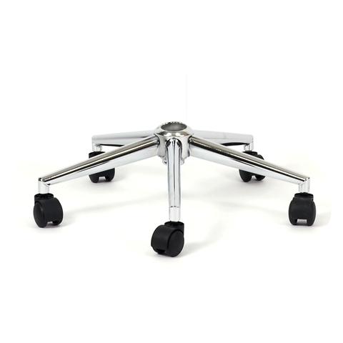 Крестовина пятилучье S9, с колесами, для кресел и полубарных стульев, хром, D-500мм