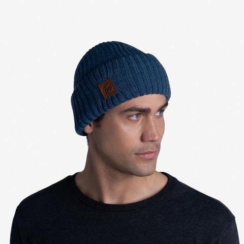 Вязаная шапка Buff Hat Knitted Rutger Steelblue фото 2