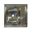 Мойка накладная левая 600х600х160 (0,4 мм) вып 1 1/2, MIXLINE