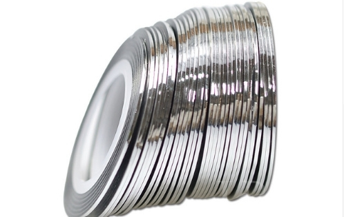 Лента самоклеющаяся глянец серебро 1мм