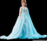 Голубое шифоновое платье