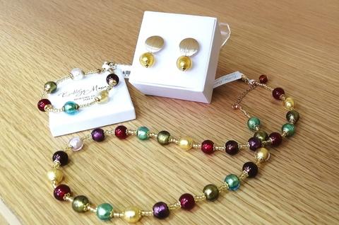 Комплект Carnevale Oro Rotondo Gold (серьги, ожерелье, браслет)