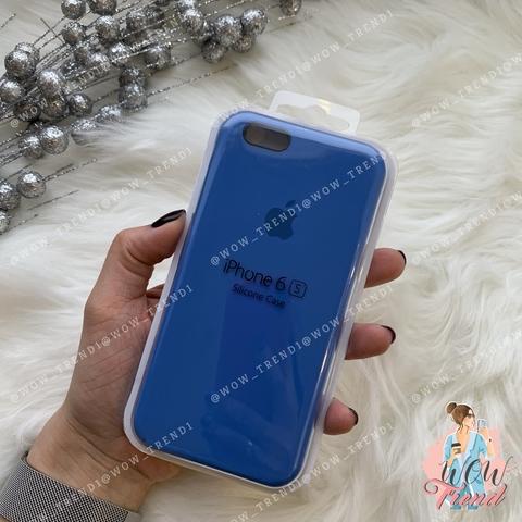 Чехол iPhone 6/6s Silicone Case /royal blue/ ярко-синий 1:1