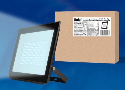 ULF-F20-150W/6500K IP65 195-250В BLACK Прожектор светодиодный. Дневной свет (6500K). Корпус черный. TM Uniel.