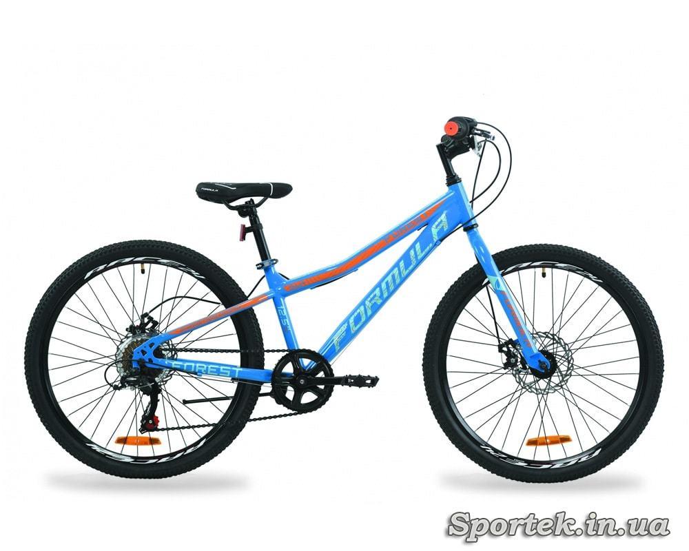 Гірський універсальний підлітковий велосипед Formula Forest DD 2020 синьо-помаранчевий
