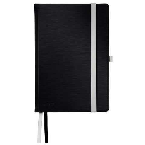 Бизнес-тетрадь кл,А5,Leitz Style,черный сталь