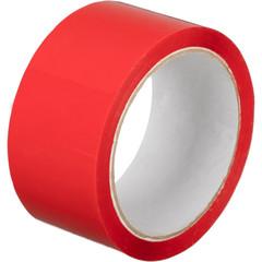 Скотч клейкая лента упаковочная красная 48 мм x 55 м толщина 45 мкм