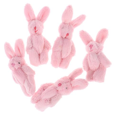 Іграшка для ляльки Let's make Зайчик 6 см рожевий