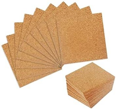 Пробковый лист 15х15 см на клеевой основе Cork Stack Adhesive Sheets
