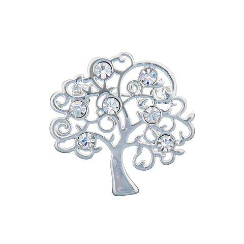 Брошь Дерево FAN-07341.1 BW/S