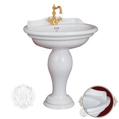 Раковина Migliore Milady ML.MLD-25.773.D3.BR,  77x60.5см., декор  бронза