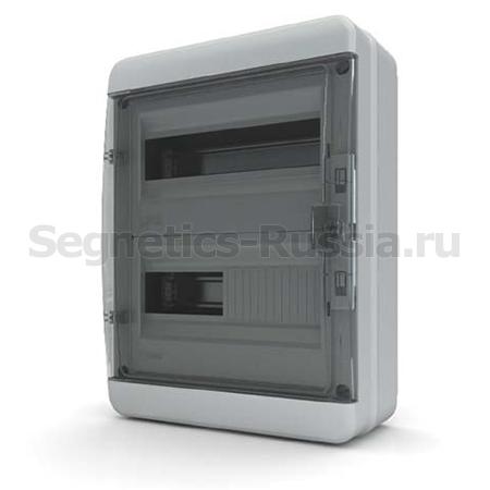 Щит навесной 24 мод IP65 Текфор - Прозрачный черный