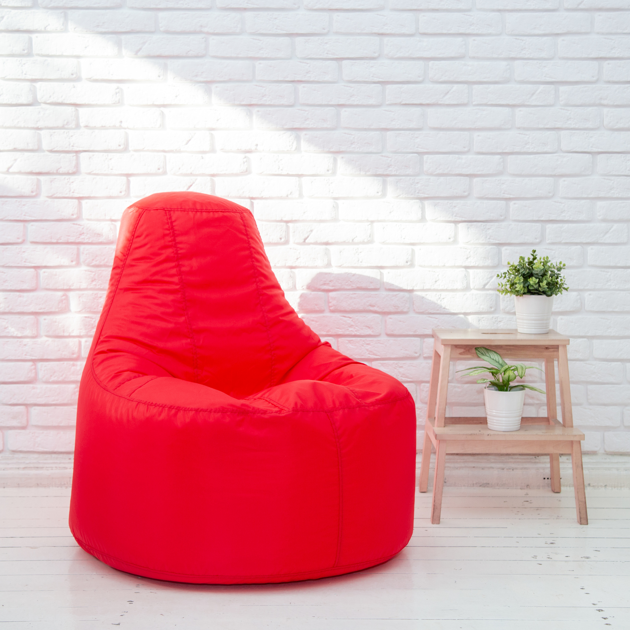 Кресло-пуф-красный