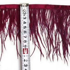 Купить оптом перья Страуса на ленте в интернет-магазине Bordo бордовые