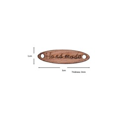 Пуговица Hand Made 27х7 мм цветная веретено деревянная