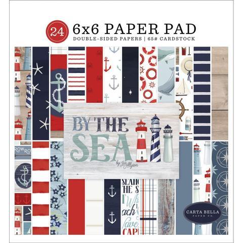 Набор двусторонней бумаги 15х15 см Carta Bella Double-Sided Paper Pad - By The Sea -24л