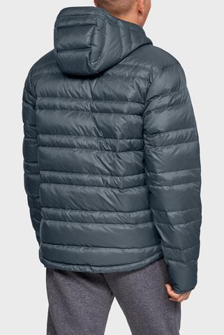 Мужской серый пуховик UA Armour Down Hooded Jacket Under Armour