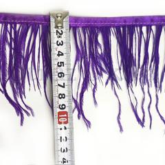 Купить оптом перья Страуса на ленте в интернет-магазине Purple Velvet фиолетовые