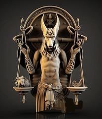 Силиконовый молд № 339  Анубис (Древний Египет)