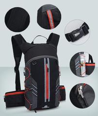 Рюкзак велосипедный с гидромешком, водонепроницаемый, объем 10 л.
