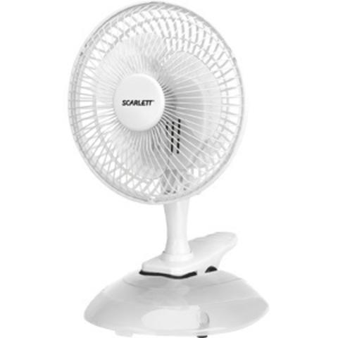 Вентилятор настольный Scarlett SC-DF111S01 25Вт скоростей:2 белый
