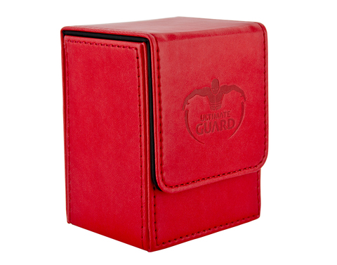 Flip Deck Case 100+ Standard Size Red