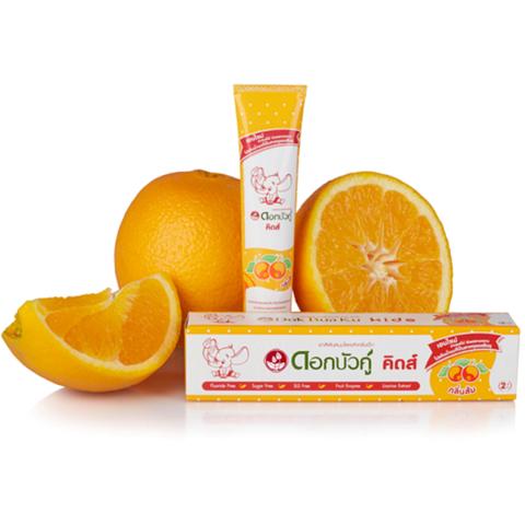 Детская зубная паста 3-6 лет, Twin Lotus Kids Herbal toothpaste - ORANGE.