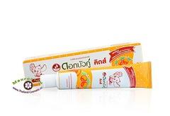 Зубная паста для детей старше 3 лет Dok Bua Ku со вкусом апельсина, Twin Lotus