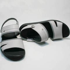 Мужские шлепанцы босоножки кожаные Ikoc 3294-3 Gray.