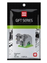 Конструктор Wisehawk & LNO Слон 110 деталей NO. B3 Elephant Gift Series