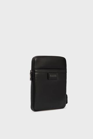 Мужская черная сумка через плечо SCALA CROSSBODY FLAT Guess