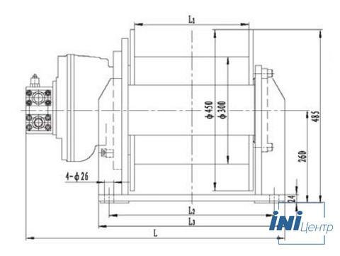 Стандартная лебедка IYJ3-40-120-16-ZP