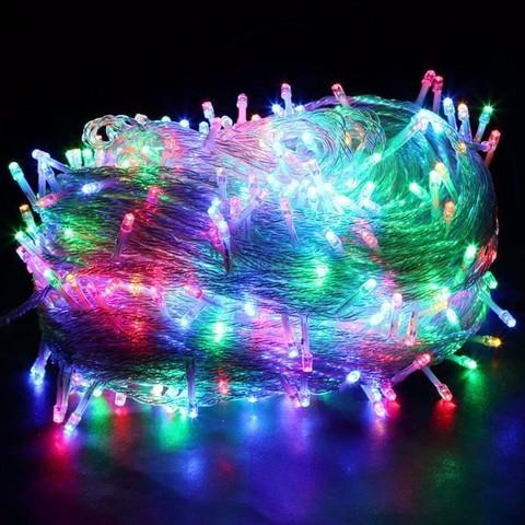 Гирлянда новогодняя 400 светодиодов разноцветная цвет