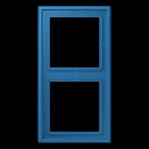 Рамка на 2 поста. Цвет Bleu céruléen 31. JUNG Les Couleurs® Le Corbusier. LC98232030