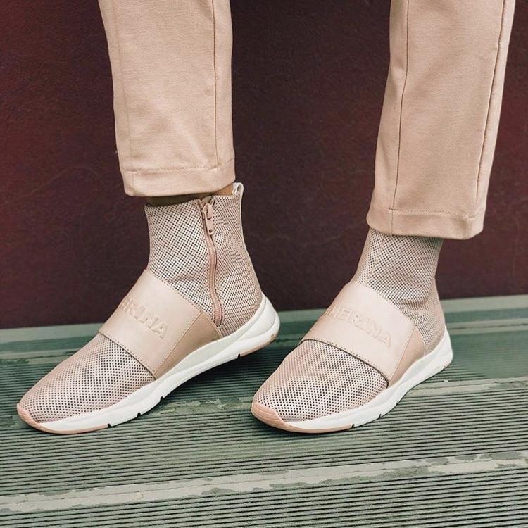 Кроссовки женские, Ballerina, LOGO (розовый)