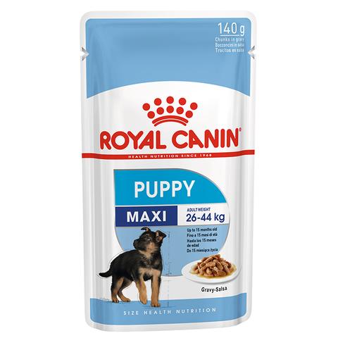 ROYAL CANIN Консервы в соусе для щенков крупных пород до 15 месяцев MAXI Puppy 140 гр.